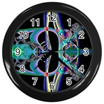 Jungle4 Wall Clock (Black)