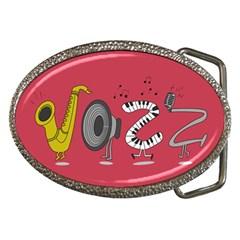 Jazz Belt Buckle (oval) by PaolAllen2