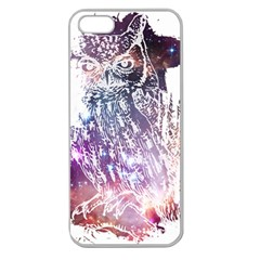 Cosmic Owl Apple Seamless Iphone 5 Case (clear) by Contest1775858