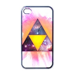 Cosmic Triple Triangles Apple Iphone 4 Case (black) by Contest1775858