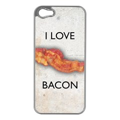 I Love Bacon Apple Iphone 5 Case (silver) by Contest1775858