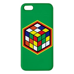 Colorful Cube, Solve It! Iphone 5 Premium Hardshell Case by ContestDesigns