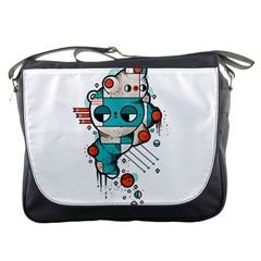 Muscle Cat Messenger Bag by Randyotter