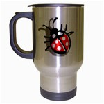 Lady Bug Travel Mug (Silver Gray)