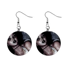 Gothic Mistress 1  Button Earrings from DesignMonaco.com Front