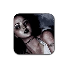 Gothic Mistress Rubber Coaster (Square) from DesignMonaco.com Front