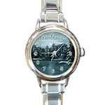Winter Moon -  Ave Hurley   Round Italian Charm Watch