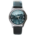 Winter Moon -  Ave Hurley   Round Metal Watch