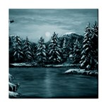 Winter Moon -  Ave Hurley   Tile Coaster