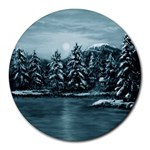 Winter Moon -  Ave Hurley   Round Mousepad