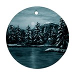Winter Moon -  Ave Hurley   Ornament (Round)