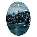 Winter Moon -  Ave Hurley   Ornament (Oval)