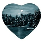 Winter Moon -  Ave Hurley   Ornament (Heart)