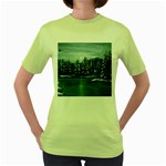Winter Moon -  Ave Hurley   Women s Green T-Shirt