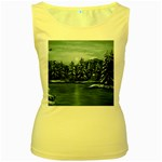 Winter Moon -  Ave Hurley   Women s Yellow Tank Top