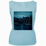 Winter Moon -  Ave Hurley   Women s Baby Blue Tank Top