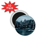 Winter Moon -  Ave Hurley   1.75  Magnet (10 pack)