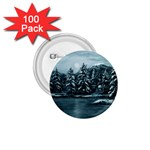 Winter Moon -  Ave Hurley   1.75  Button (100 pack)
