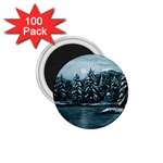 Winter Moon -  Ave Hurley   1.75  Magnet (100 pack)