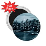 Winter Moon -  Ave Hurley   2.25  Magnet (100 pack)