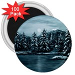 Winter Moon -  Ave Hurley   3  Magnet (100 pack)