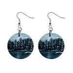 Winter Moon -  Ave Hurley   1  Button Earrings