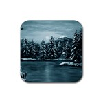Winter Moon -  Ave Hurley   Rubber Square Coaster (4 pack)