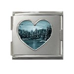 Winter Moon -  Ave Hurley   Mega Link Heart Italian Charm (18mm)