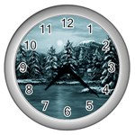 Winter Moon -  Ave Hurley   Wall Clock (Silver)
