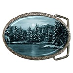 Winter Moon -  Ave Hurley   Belt Buckle
