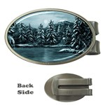 Winter Moon -  Ave Hurley   Money Clip (Oval)