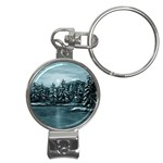 Winter Moon -  Ave Hurley   Nail Clippers Key Chain