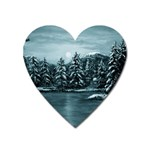 Winter Moon -  Ave Hurley   Magnet (Heart)