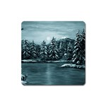 Winter Moon -  Ave Hurley   Magnet (Square)
