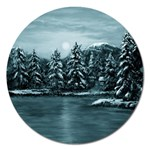Winter Moon -  Ave Hurley   Magnet 5  (Round)