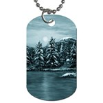Winter Moon -  Ave Hurley   Dog Tag (One Side)