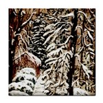 Castle Yard in Winter -AveHurley ArtRevu.com- Tile Coaster