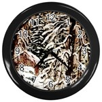 Castle Yard in Winter -AveHurley ArtRevu.com- Wall Clock (Black)