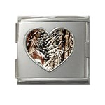 Castle Yard in Winter -AveHurley ArtRevu.com- Mega Link Heart Italian Charm (18mm)
