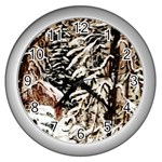 Castle Yard in Winter -AveHurley ArtRevu.com- Wall Clock (Silver)