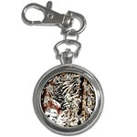 Castle Yard in Winter -AveHurley ArtRevu.com- Key Chain Watch