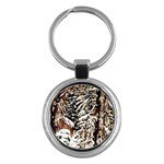Castle Yard In Winter - Ave Hurley Key Chain (Round)