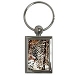Castle Yard In Winter - Ave Hurley Key Chain (Rectangle)