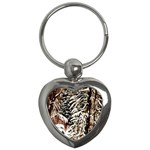 Castle Yard In Winter - Ave Hurley Key Chain (Heart)