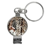 Castle Yard in Winter -AveHurley ArtRevu.com- Nail Clippers Key Chain