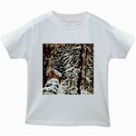 Castle Yard in Winter -AveHurley ArtRevu.com- Kids White T-Shirt
