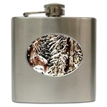 Castle Yard in Winter -AveHurley ArtRevu.com- Hip Flask (6 oz)