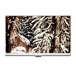Castle Yard In Winter - Ave Hurley Business Card Holder
