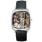 Castle Yard In Winter - Ave Hurley Square Metal Watch