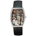 Castle Yard In Winter - Ave Hurley Barrel Style Metal Watch